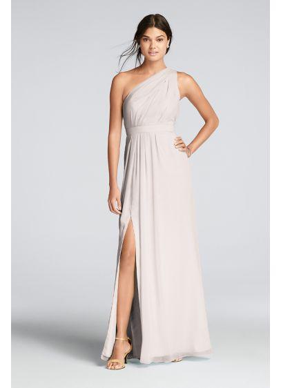 Long Blue Soft & Flowy Bridesmaid Dress