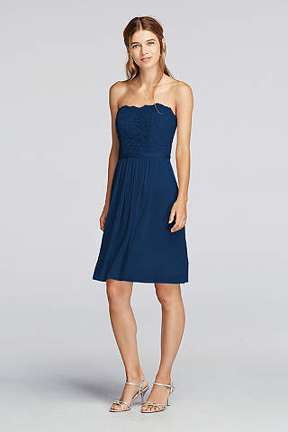 Navy Blue Bridesmaid Dresses You\'ll Love | David\'s Bridal