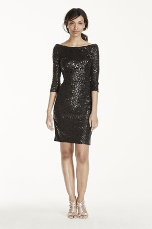Short Sleeve Sequin Dress
