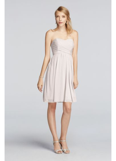 Short Pink Soft & Flowy Bridesmaid Dress