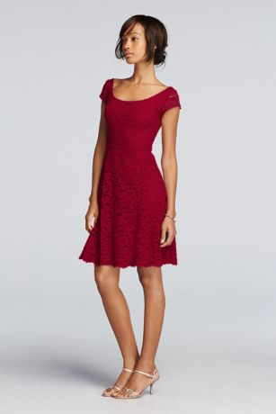 Short Dresses with Cap Sleeves
