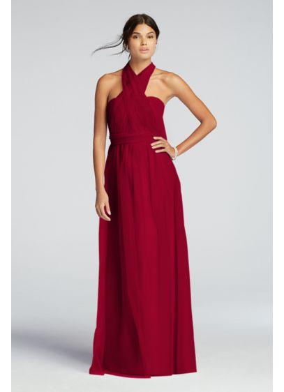 Long Black Soft & Flowy Bridesmaid Dress
