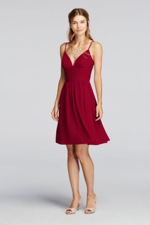 Short Chiffon Dresses with Spaghetti Straps