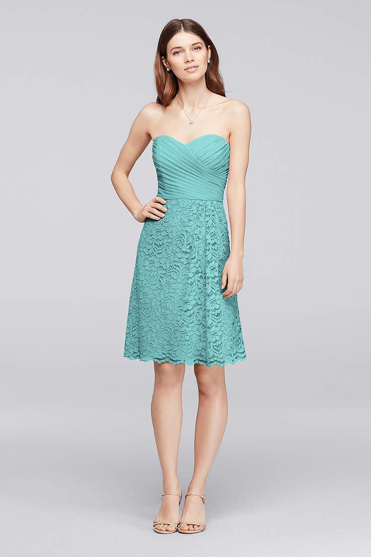 4179fa51ce469 Turquoise Blue Bridesmaid Dresses You'll Love | David's Bridal