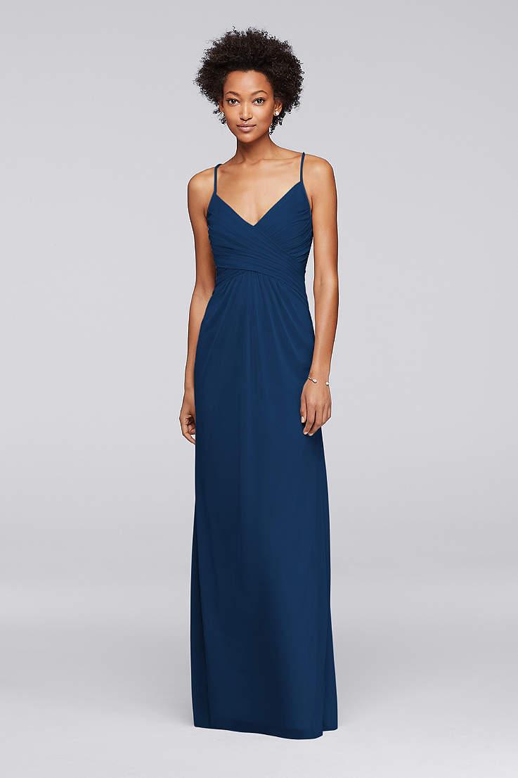 Navy Blue Bridesmaid Dresses For Weddings Davids Bridal