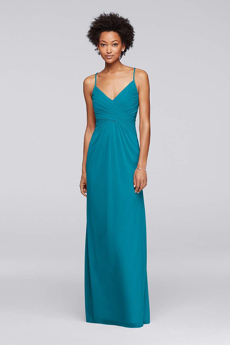 Bridesmaid Dresses Teal | Teal Bridesmaid Dresses Short Long Styles David S Bridal