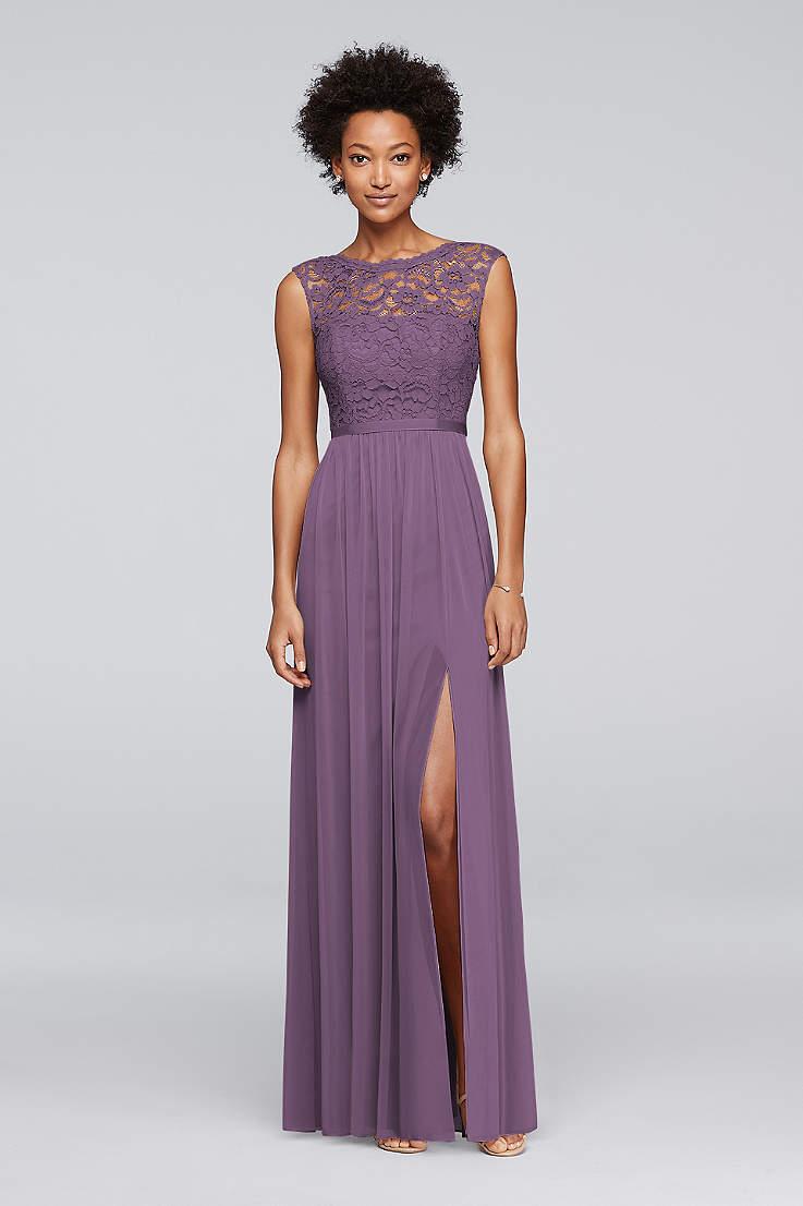 df8030968 Soft & Flowy;Structured David's Bridal Long Bridesmaid Dress