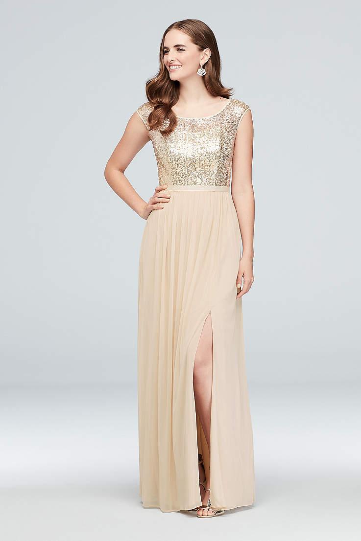 529391296cb60 Gold Bridesmaid Dresses You'll Love   David's Bridal