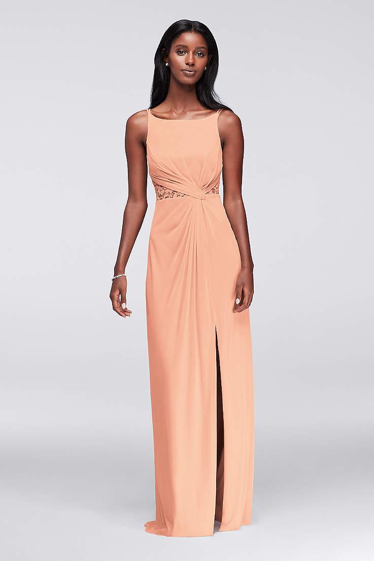 fd1760bd0fd57 Soft   Flowy Structured David s Bridal Long Bridesmaid Dress