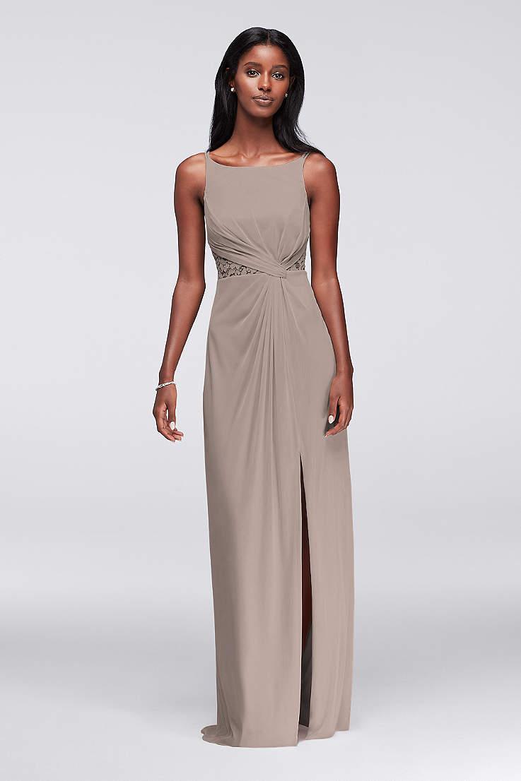 f892bb6e23b Soft   Flowy Structured David s Bridal Long Bridesmaid Dress