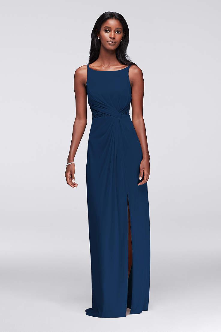 5764fae6744 Soft   Flowy Structured David s Bridal Long Bridesmaid Dress