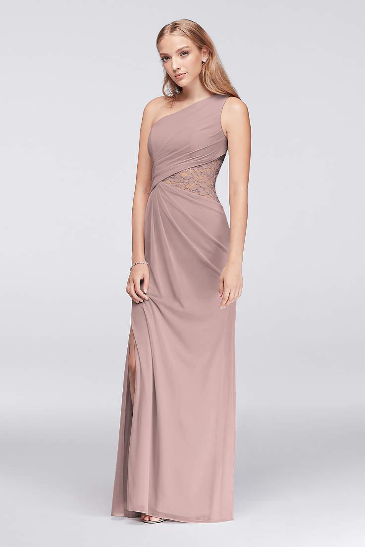 bf049c3f3c Soft & Flowy;Structured David's Bridal Long Bridesmaid Dress