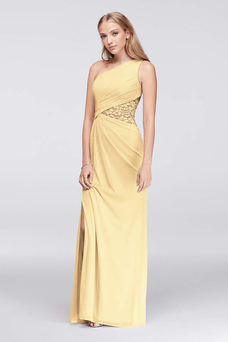 Yellow Bridesmaid Dresses In Pale Mustard Pastel Shades