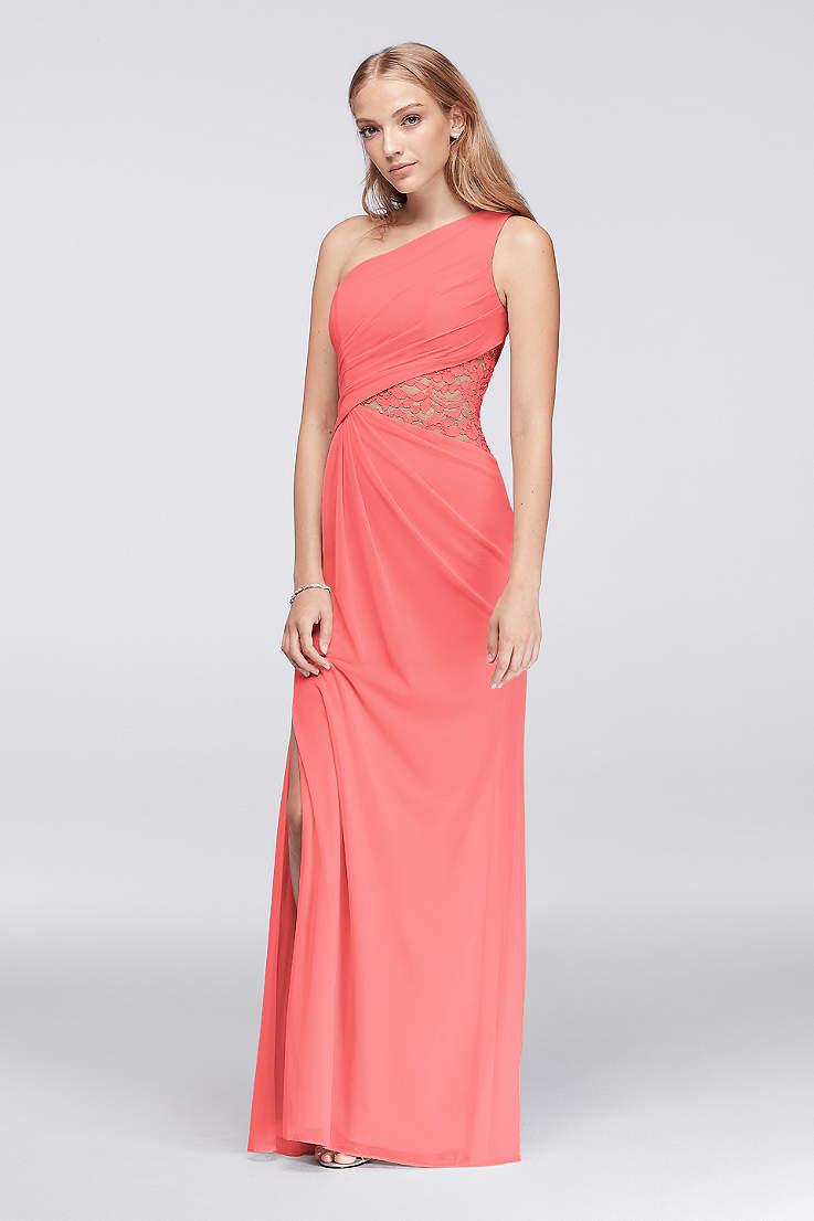 Soft   Flowy Structured David s Bridal Long Bridesmaid Dress d8d85838794a