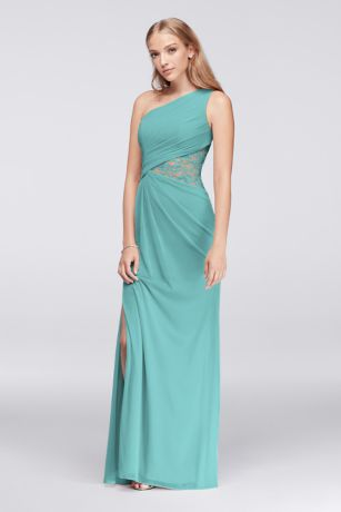 Long Sheath One Shoulder Dress - David's Bridal