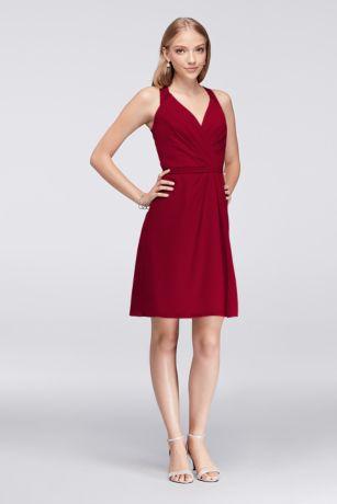 Short Blue Soft U0026 Flowy Davidu0027s Bridal Bridesmaid Dress