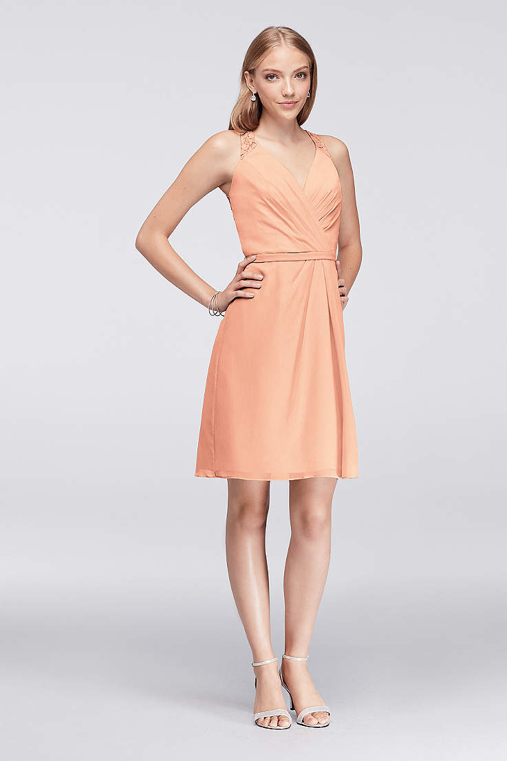 00a8d1021e Peach Colored Bridesmaid Dresses | David's Bridal