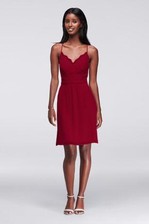 Short Chiffon Strap Dress
