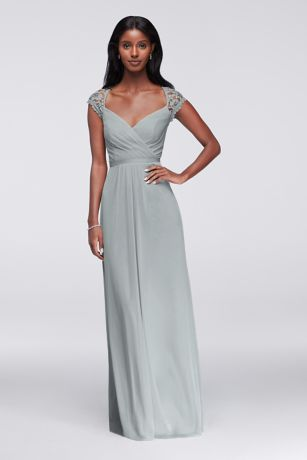 184c4004a50 Soft   Flowy Structured David s Bridal Long Bridesmaid Dress