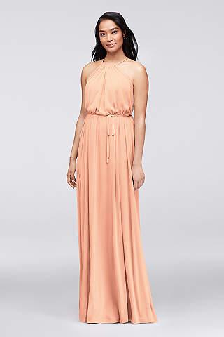Peach Colored Bridesmaid Dresses | David\'s Bridal