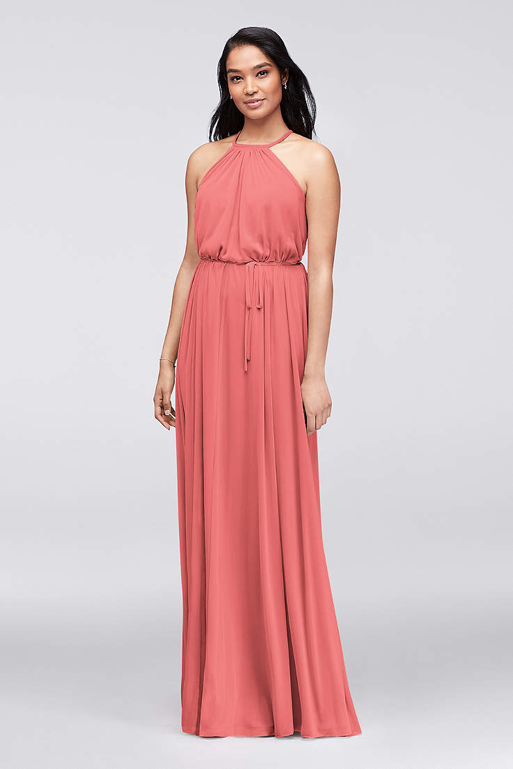 Short Coral Bridesmaid Dresses | Coral Bridesmaid Dresses Salmon Melon Coral Formal Gowns