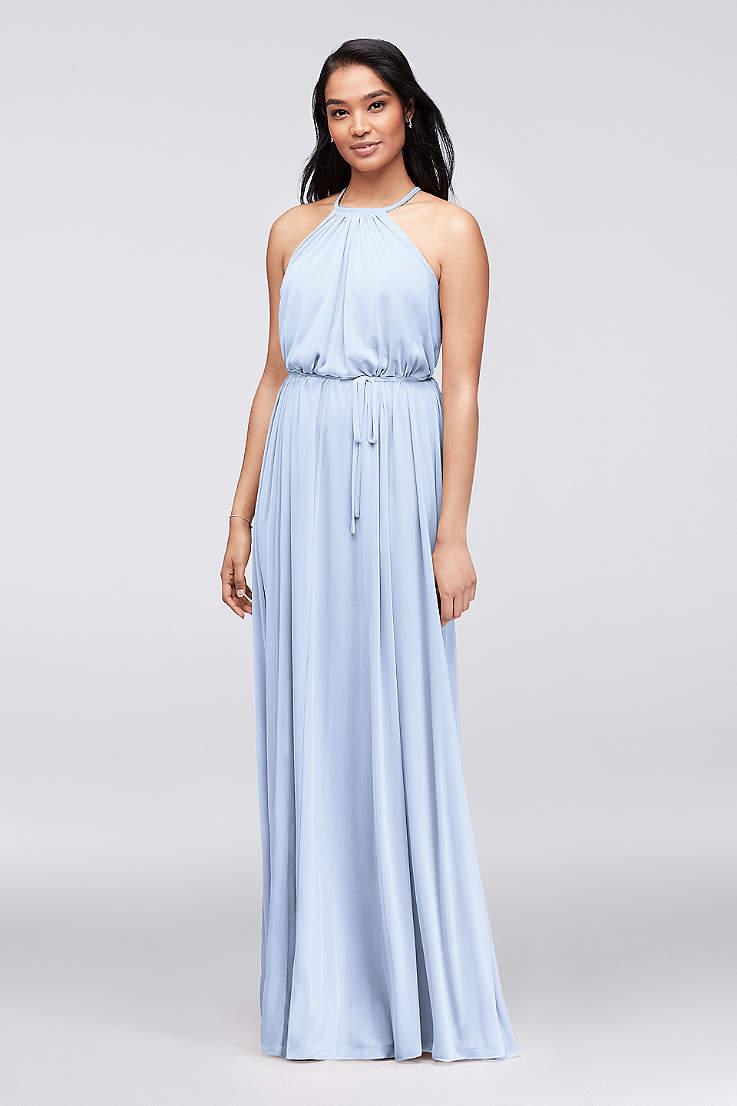 4584e7a09919 Soft   Flowy David s Bridal Long Bridesmaid Dress