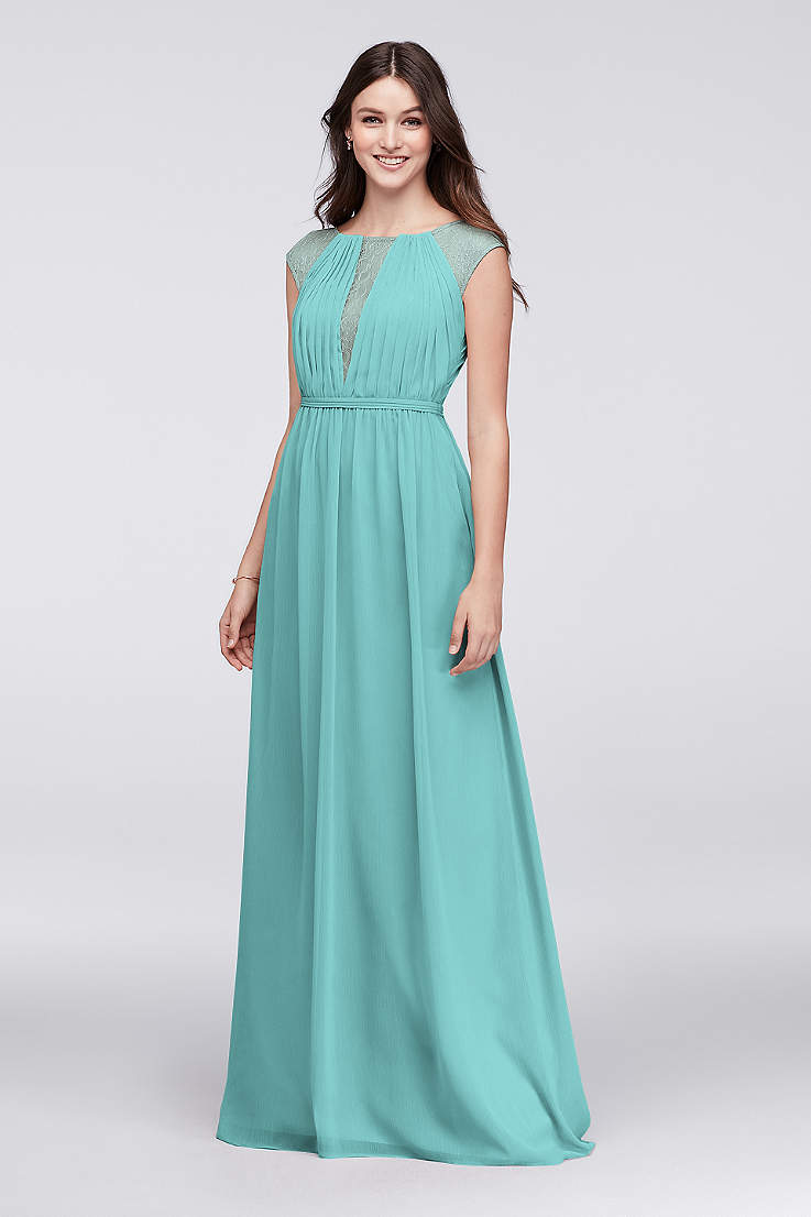 3f3a0067e499 Turquoise Blue Bridesmaid Dresses You'll Love | David's Bridal