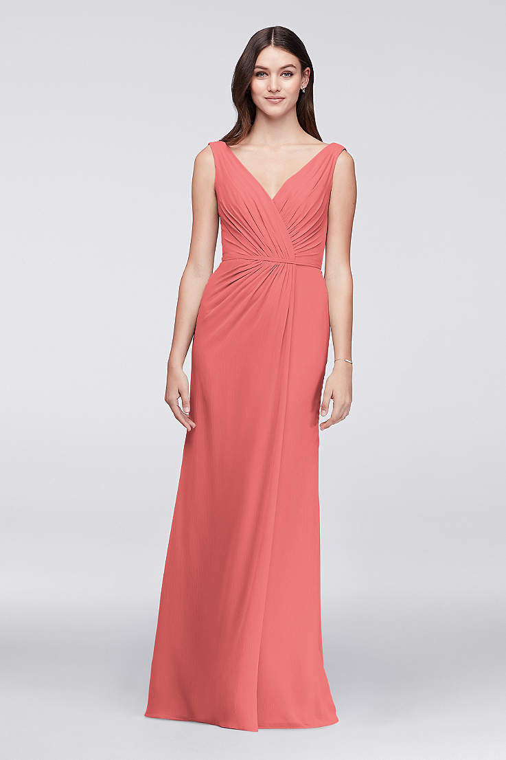c83bc90081 Coral Bridesmaid Dresses - Salmon, Melon, Coral Formal Gowns ...