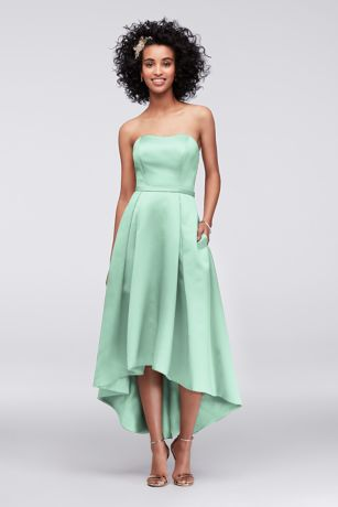 High Low Ballgown Strapless Dress - David's Bridal