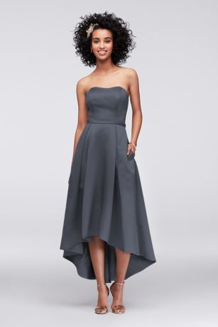 Structured High Low Bridesmaid Dress