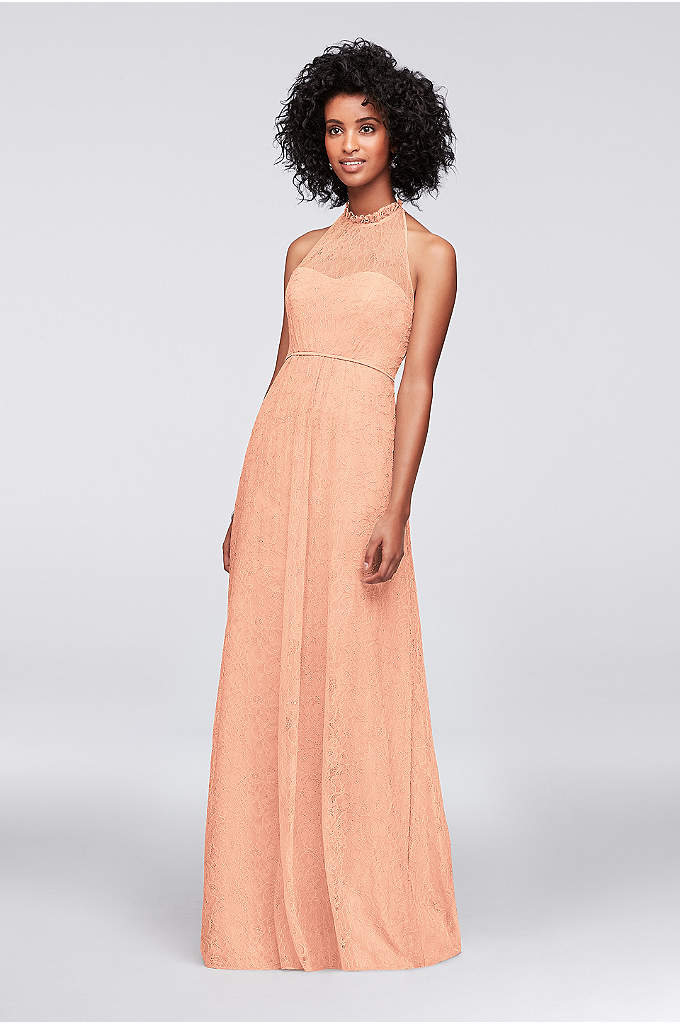 Allover Chantilly Lace A-Line Bridesmaid Dress - A beautifully romantic dress for your bridesmaids, this