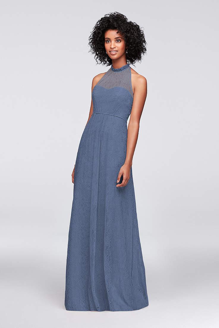 df912a3d4ff6 Soft & Flowy;Structured David's Bridal Long Bridesmaid Dress