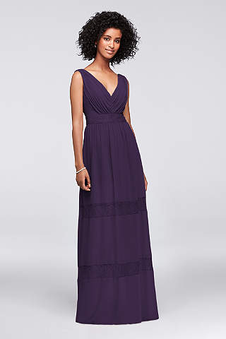 Awesome Soft U0026 Flowy Davidu0027s Bridal Long Bridesmaid Dress