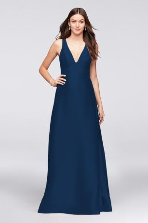 Structured Long Bridesmaid Dress