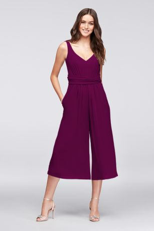 Tea Length Jumpsuit Tank Dress - David's Bridal
