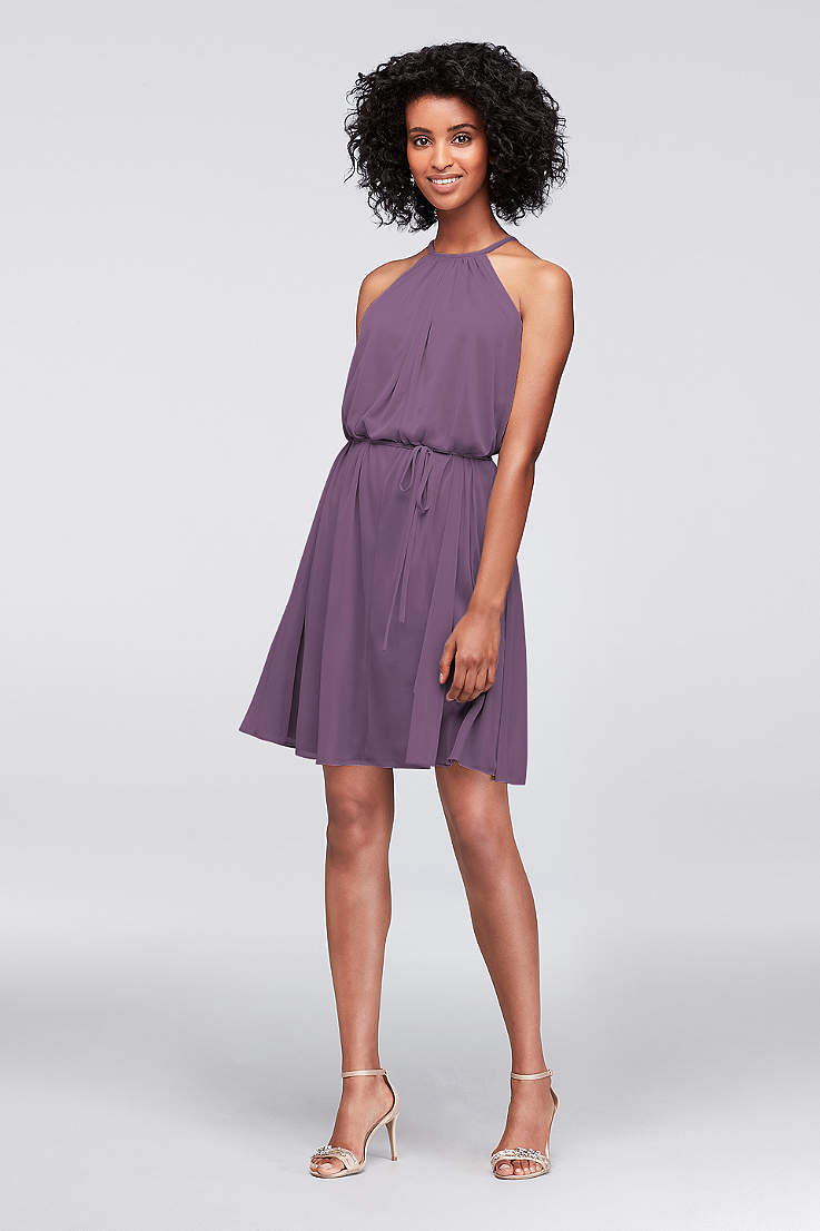 f13304b49c72 Soft   Flowy David s Bridal Short Bridesmaid Dress