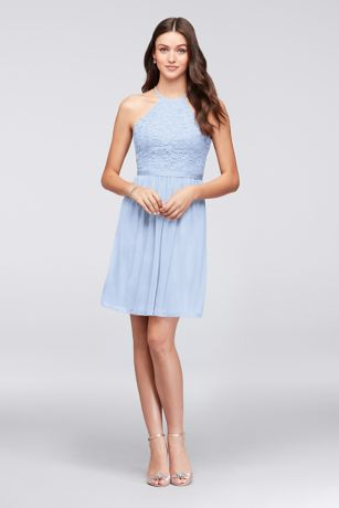032fd164749f Soft   Flowy Structured David s Bridal Short Bridesmaid Dress