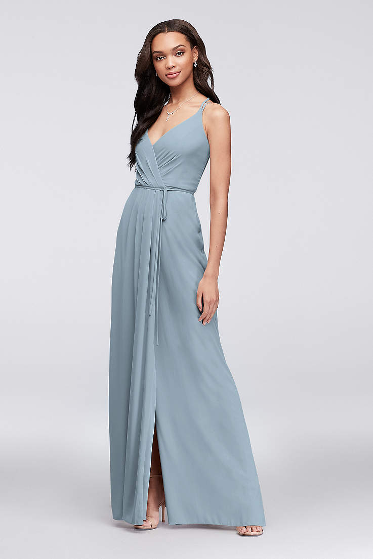 6f15348e36 Dusty Blue Bridesmaid Dresses, In Long, Short & Sleeve Styles ...