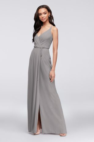 Long A-Line Spaghetti Strap Dress - David's Bridal