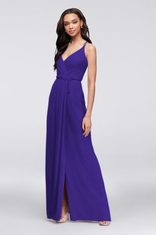 Long Sheath Spaghetti Strap Dress - David's Bridal