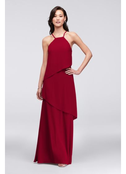 Long Sheath Halter Holiday Dress - David's Bridal