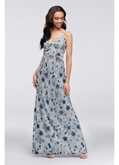 53ed262fe92ac Floral Embroidered Tank Bridesmaid Dress | David's Bridal