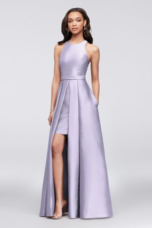 58d1cff76ad Structured David s Bridal Long Bridesmaid Dress