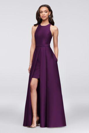 Long A-Line Halter Dress - David's Bridal