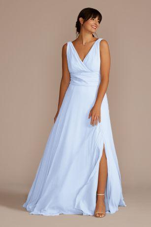 cc28ac6a5ad33 Soft   Flowy David s Bridal Long Bridesmaid Dress