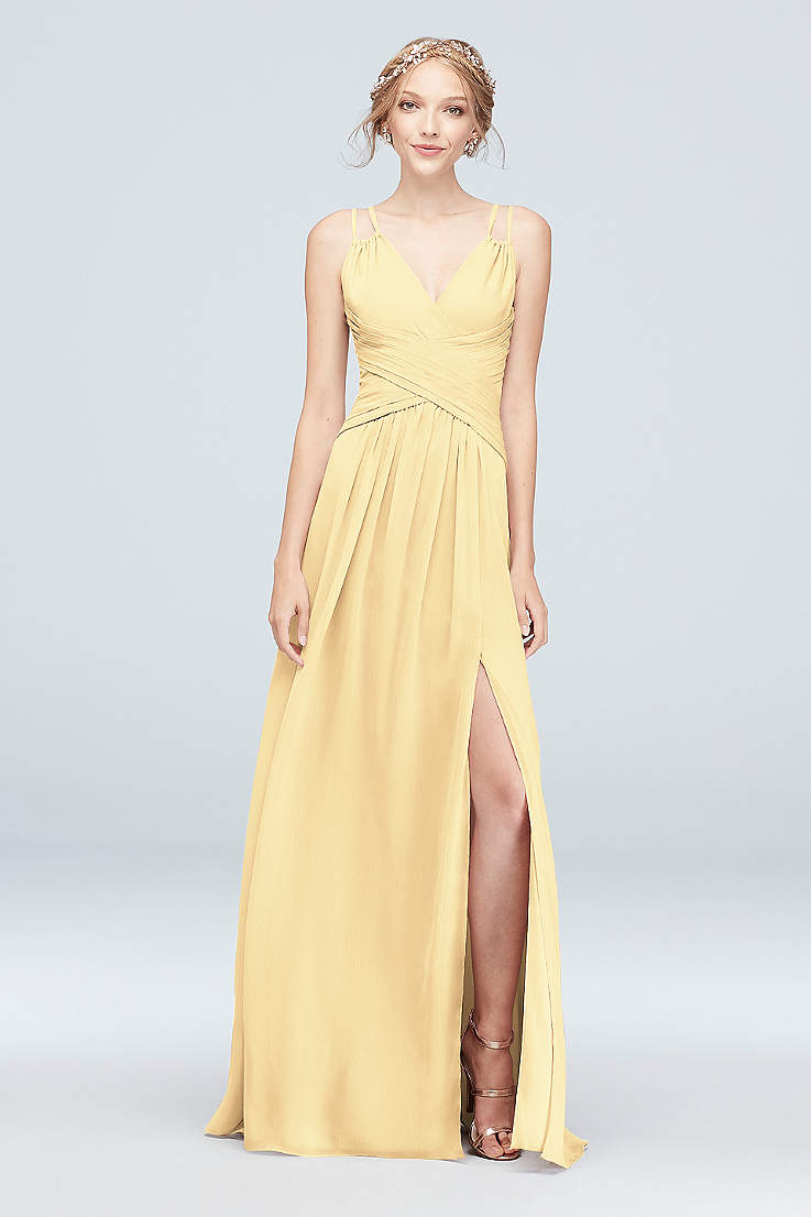 e53b02bbff Yellow Bridesmaid Dresses in Pale, Mustard & Pastel Shades | David's ...