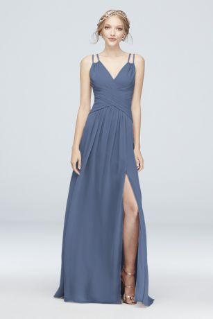 b15ebc6521 Soft   Flowy David s Bridal Long Bridesmaid Dress