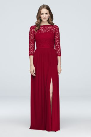 Long Sleeve Maroon Bridesmaids Dresses