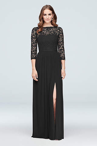 Black Dresses With Sleeves Davids Bridal