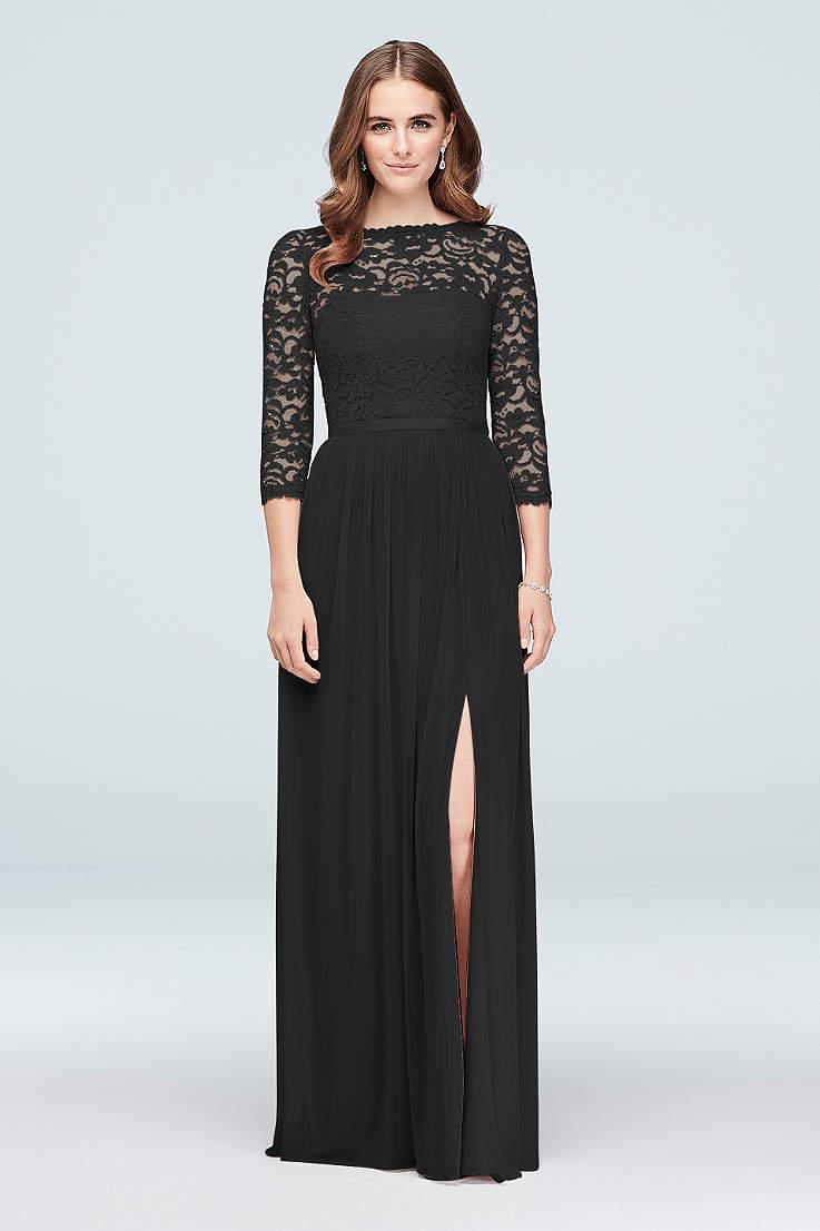 58842e5ab0 Long Sheath 3 4 Sleeves Dress - David s Bridal